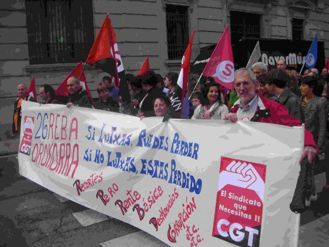 CGT-LKN. Anteponiendo la movilización, El 30 M, Huelga General