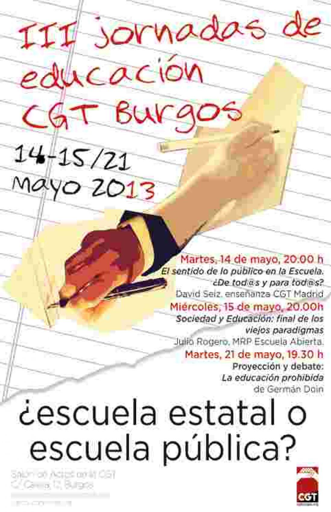 III jornadas de educación CGT Burgos