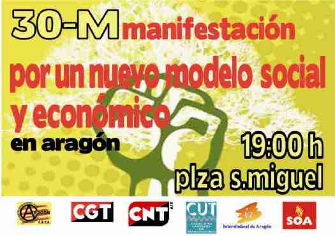 Zaragoza. 30 de mayo Jornada de lucha