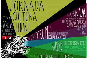 CGT-La Safor organiza la Jornada Cultura Libre