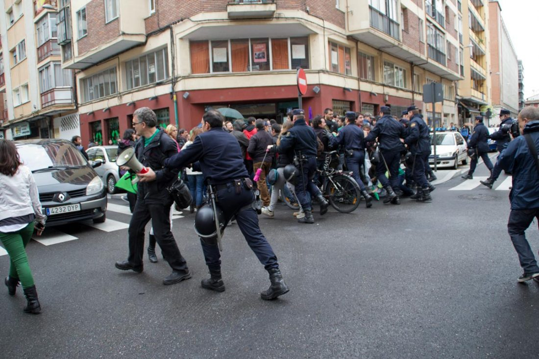 Valladolid. Dos compañeros agredidos y detenidos durante las protestas pacíficas de la Huelga de Enseñanza