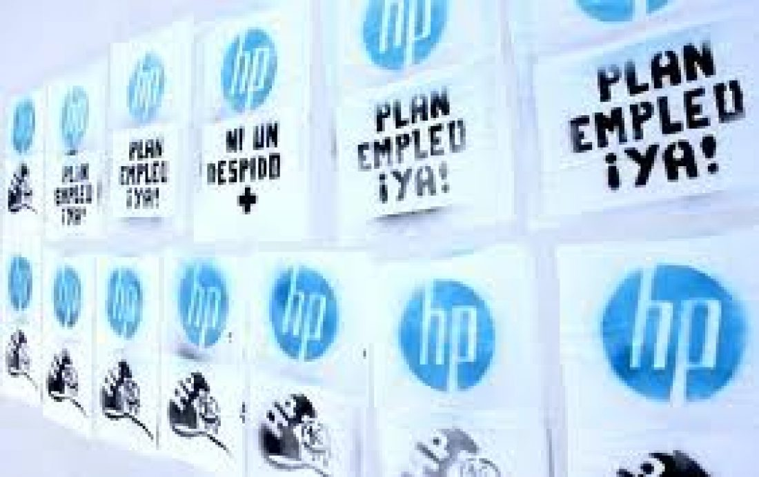 Zaragoza. Manifestación de trabajadorxs de HP: Por un empleo estable y con derechos