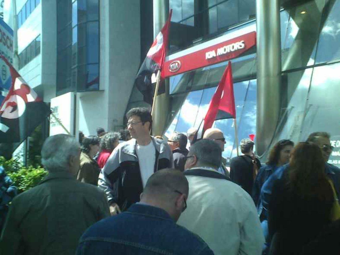 Concentración de protesta ante la sede de Millward Brown en Madrid