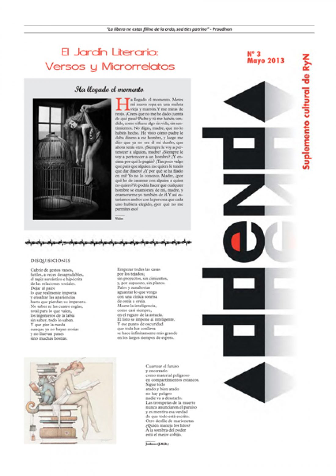 Addenda, suplemento cultural del RyN – Nº 3, mayo 2013