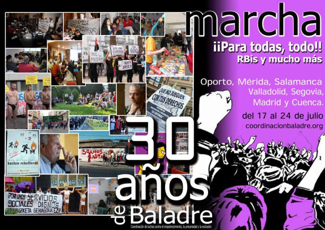 La coordinación Baladre celebra sus 30 años con una Caravana-Marcha