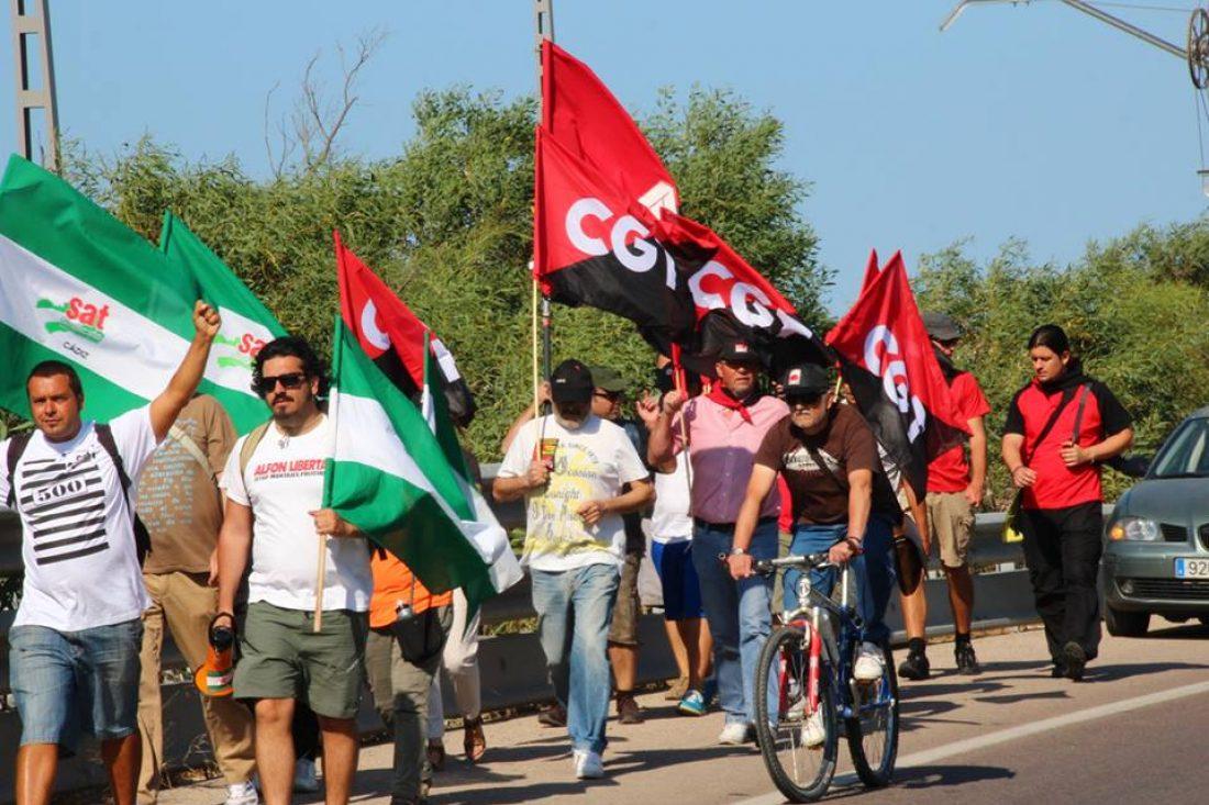 Concluida la Marcha por el Empleo en Cádiz