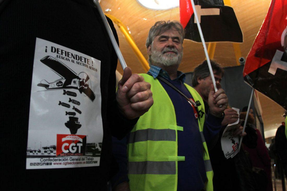 20 de junio concentracion de trabajadores de Iberia en la Junta de accionistas de IAG