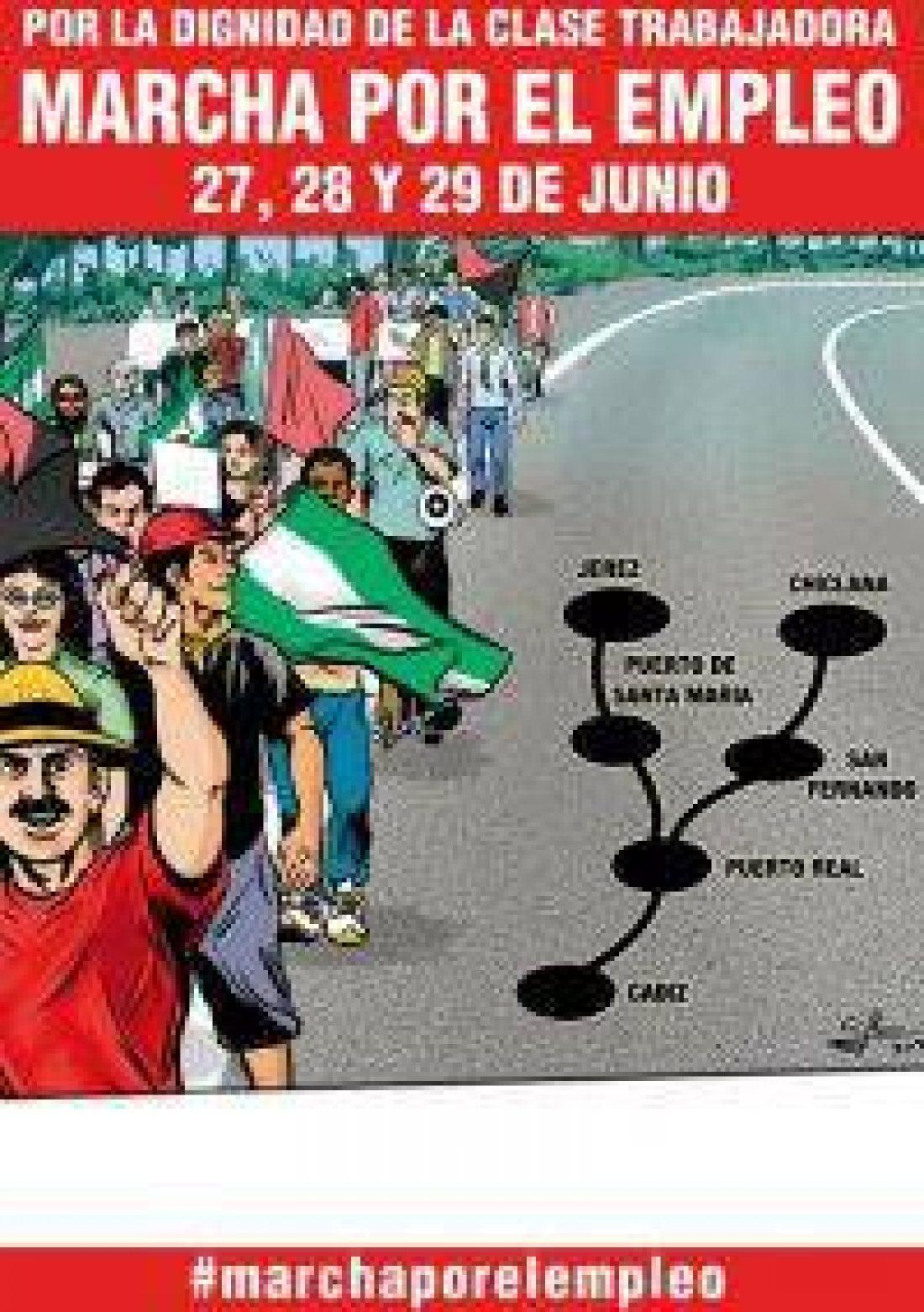 Marcha por el empleo y por la dignidad de la clase trabajadora en la bahía de Cádiz