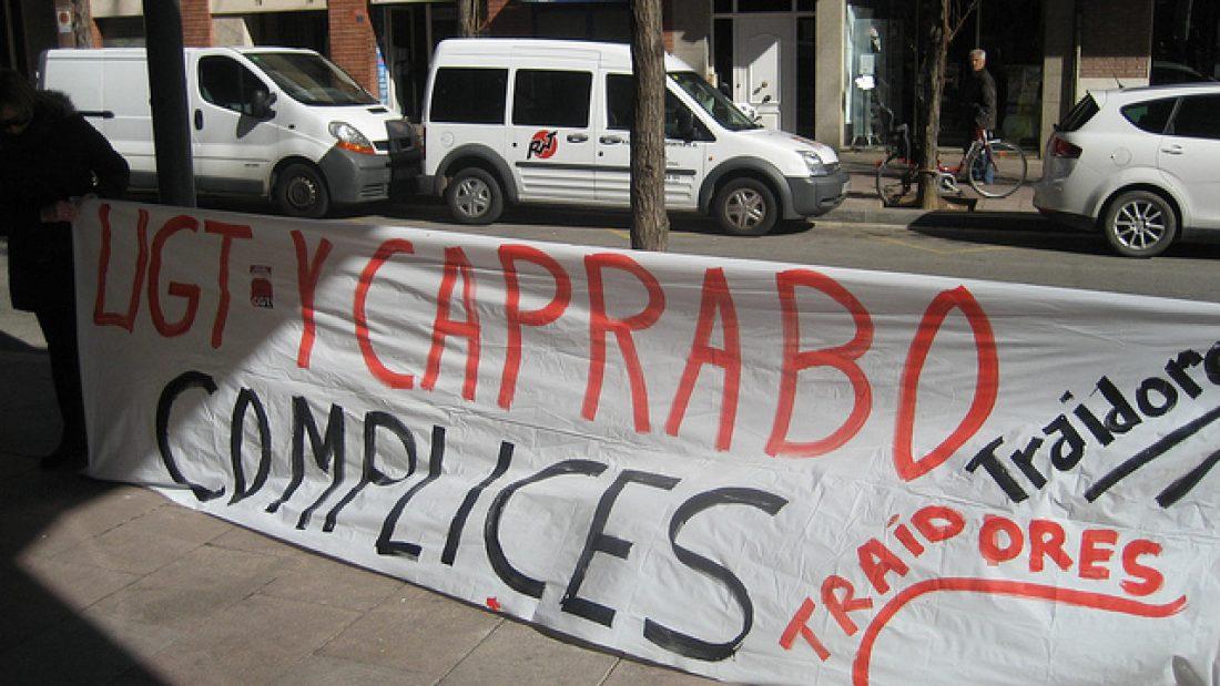 Petición de apoyo de la sección Sindical de CGT en Caprabo (Barcelona)