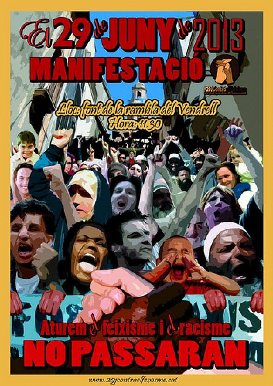 Manifestación en El Vendrel 29-J contra el racismo y el fascismo. No al PxC