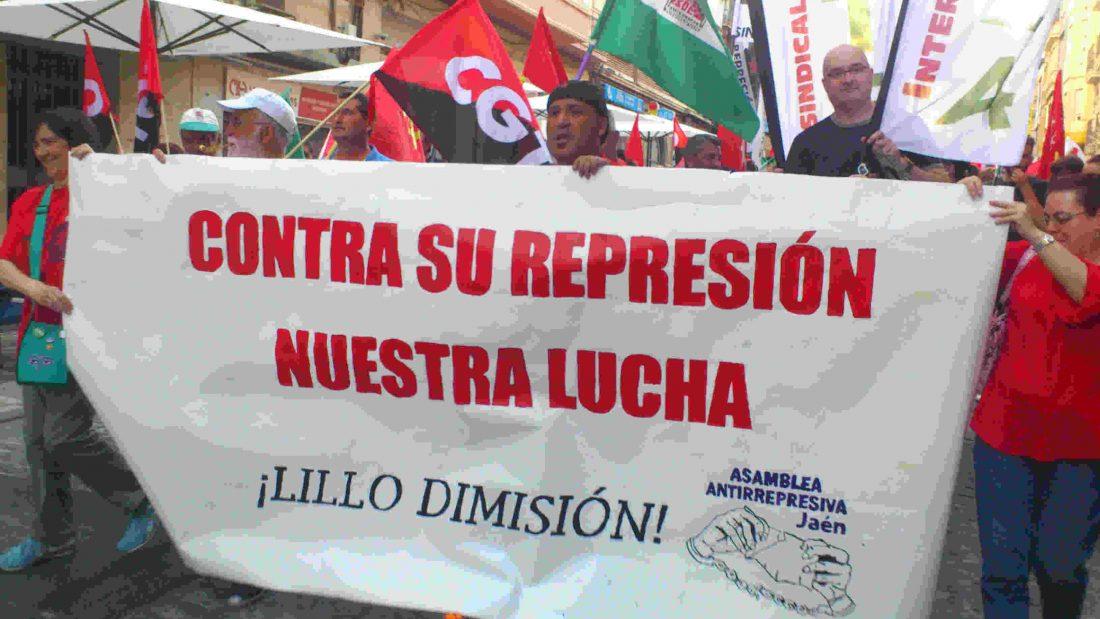 Manifestación antirrepresiva en Jaén