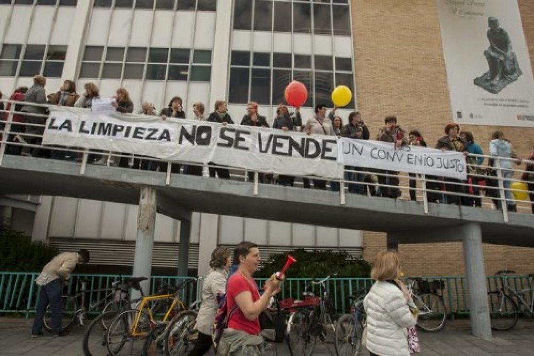 Limpiezas Sanitarias de Aragón en Huelga Indefinida. ¡Solidaridad!