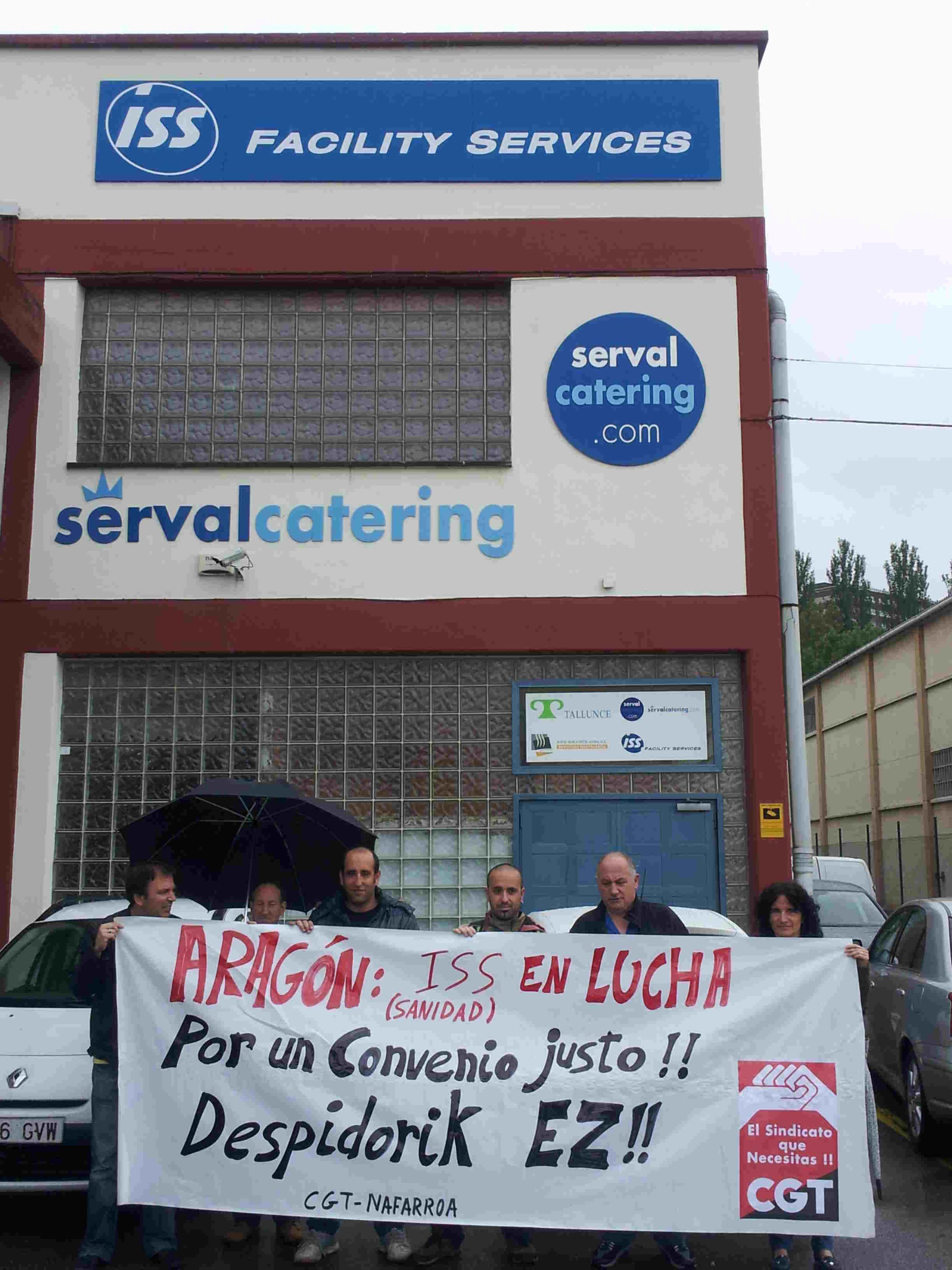 CGT Iruñea con la Huelga de Limpiezas Sanitarias de Aragón