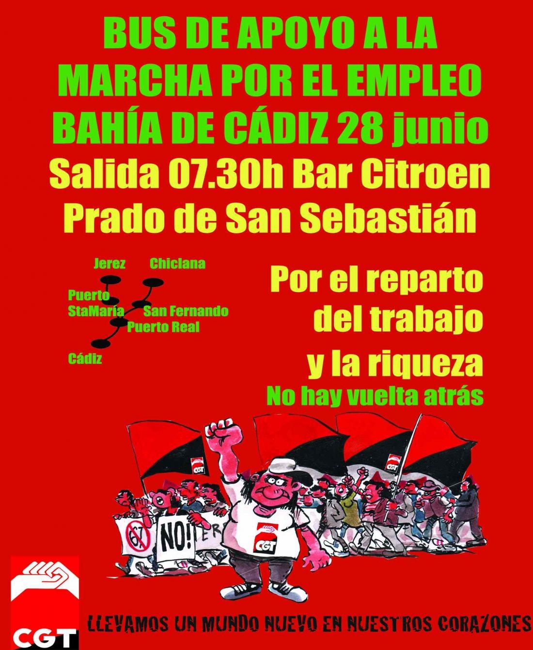 Empieza la Marcha por el Empleo en Cádiz