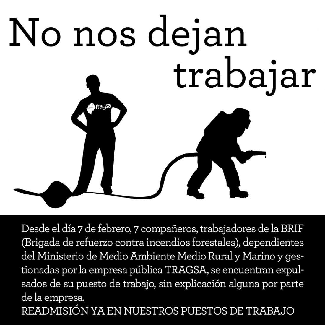 Protesta de Brigadas de Emergencia de Alicante por el despido de un compañero