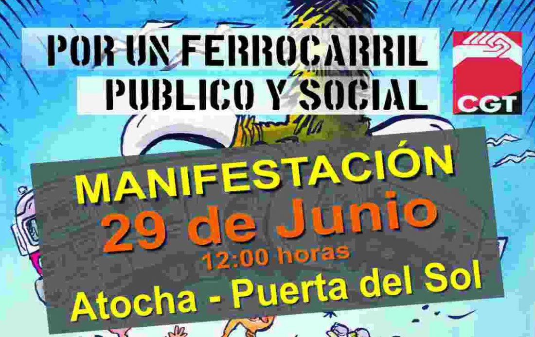 Manifestación 29-J. Por un ferrocarril público y social