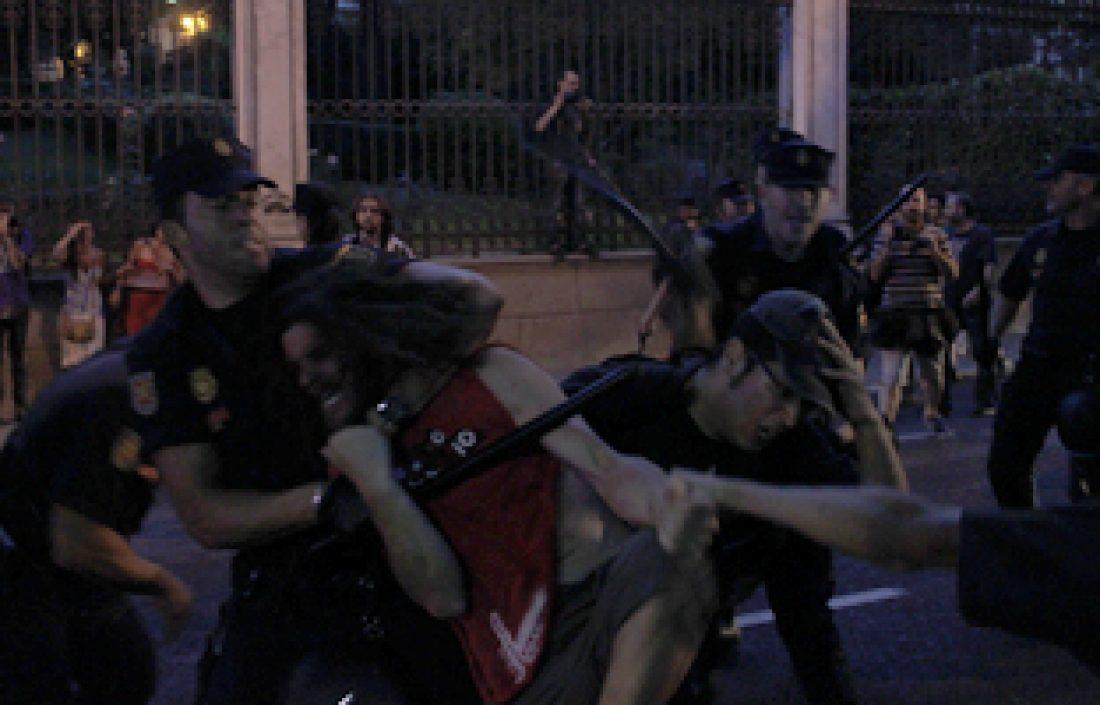 Detenida una compañera de Baladre y otra hospitalizada en el escrache feminista en Madrid