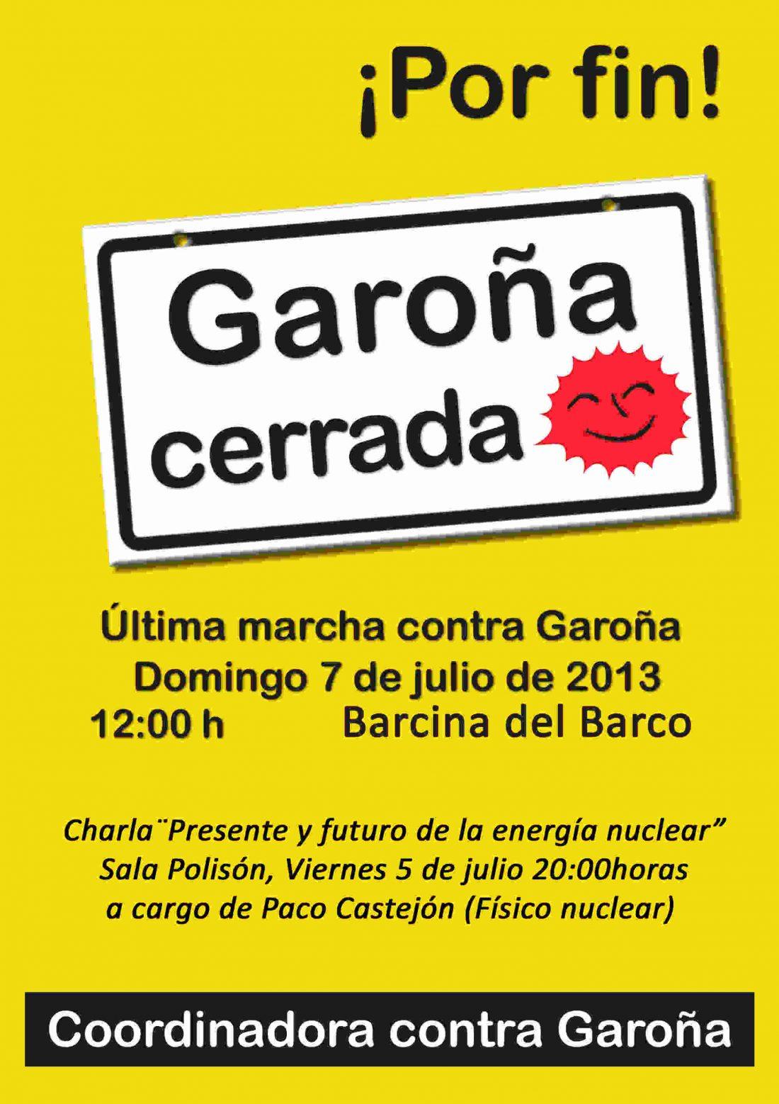 Última marcha a Garoña, 7 de julio del 2013