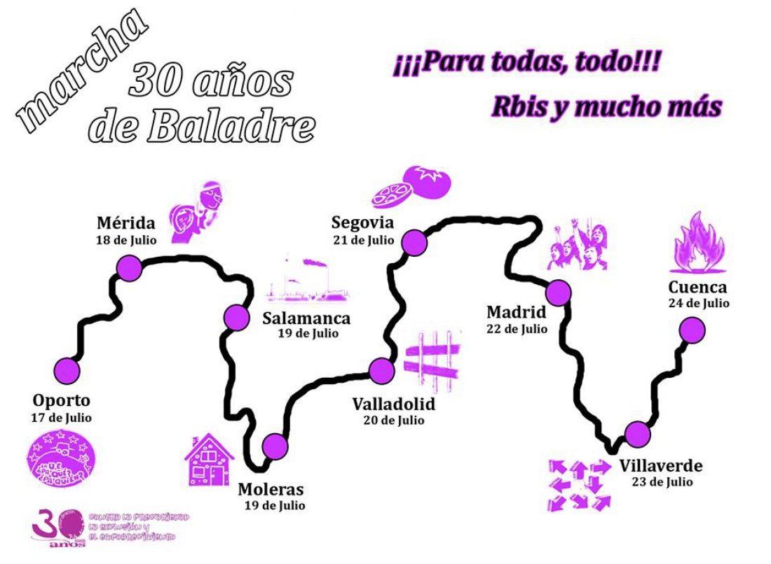 Dos marchas reivindicativas confluirán en la comarca de Villar de Cañas