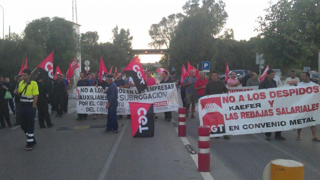 Huelga indefinida en el sector petroquímico del Campo de Gibraltar a partir del 20 de agosto, en apoyo de los trabajadores despedidos de Kaefer y Padilla.