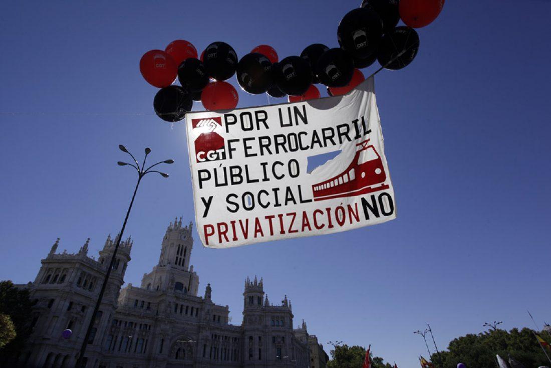 CGT avisa que el ferrocarril en Huelva se encuentra en grave peligro de extinción