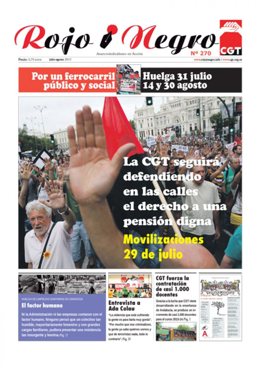 Rojo y Negro Nº 270 – julio y agosto 2013