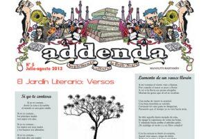 Addenda, suplemento cultural del RyN – Nº 5, julio y agosto 2013