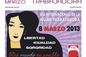 Separata 8 de Marzo, Día Internacional de la Mujer Trabajadora – marzo 2013