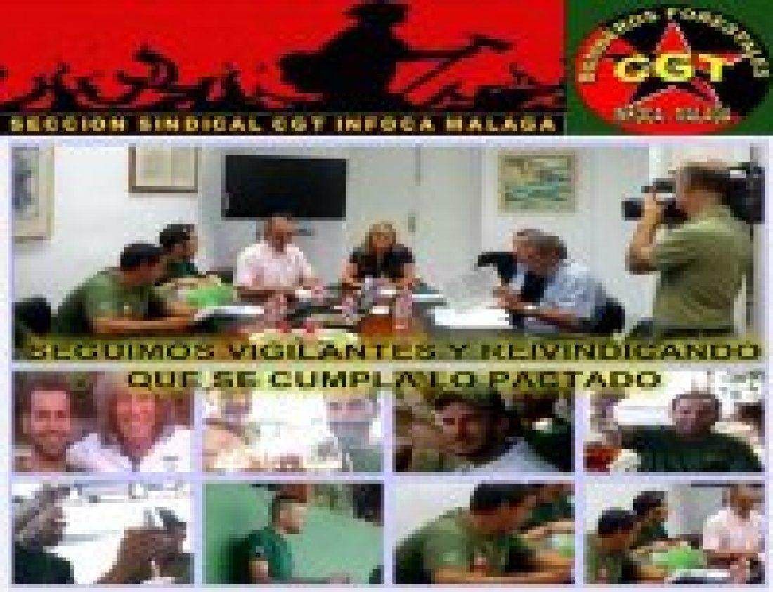 CGT Infoca sigue vigilante y reivindica que se cumpla lo pactado
