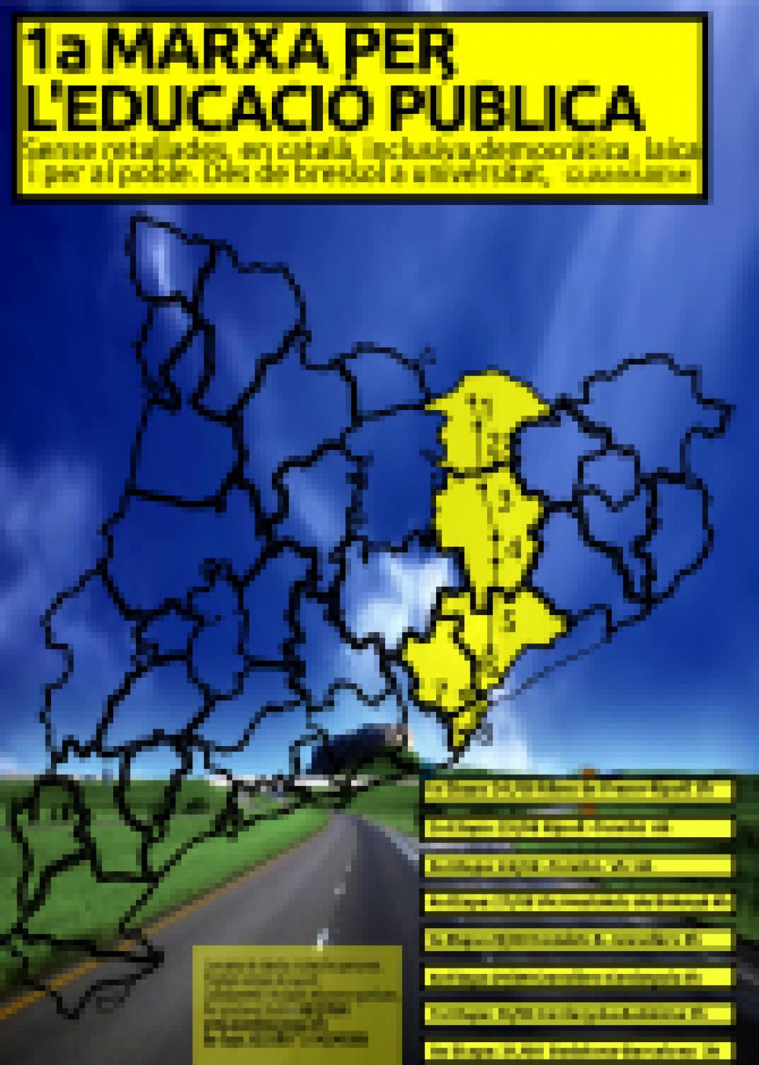1ª Marcha por la educación pública, de Ribes de Freser a Barcelona, del 24 al 31 de agosto