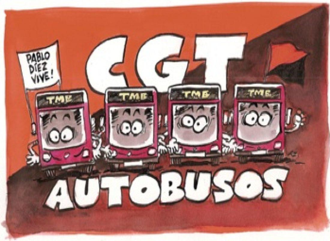 Huelga de autobuses de TMB el 12 de Septiembre, y desde el día 13, huelga indefinida con paros parciales