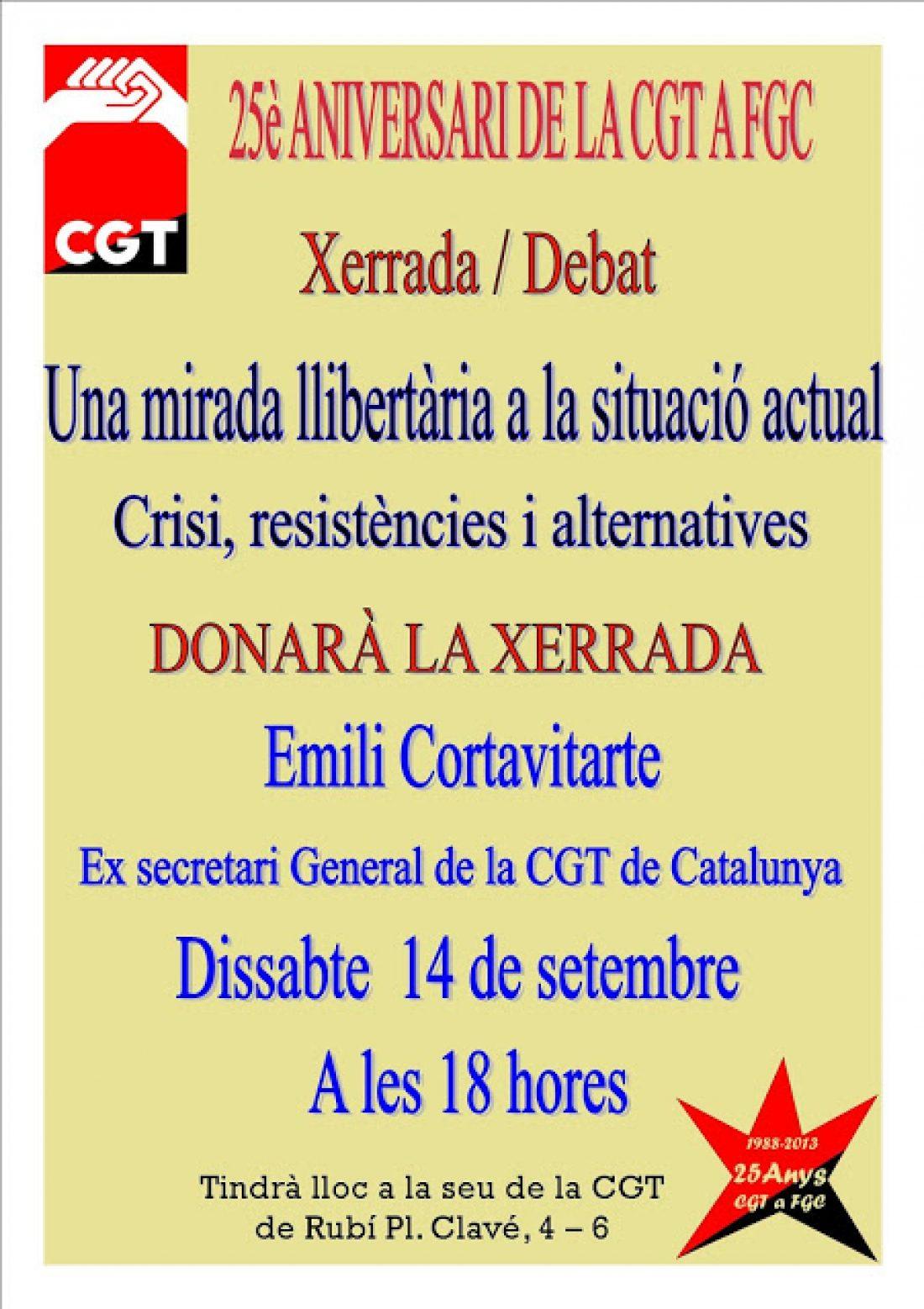 Charla-debate en Rubí «Una mirada libertaria a la situación actual» el 14 de septiembre