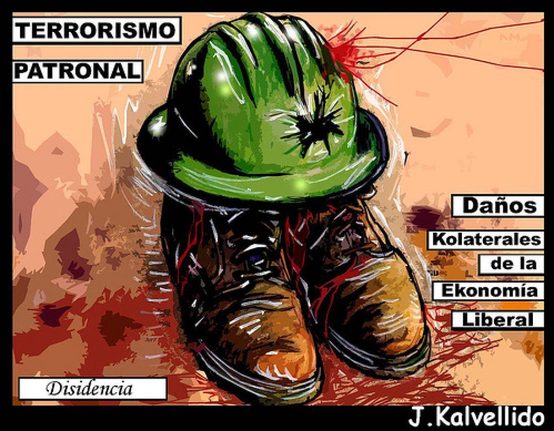 Concentración en Iruña. Accidente laboral, terrorismo patronal y gubernamental