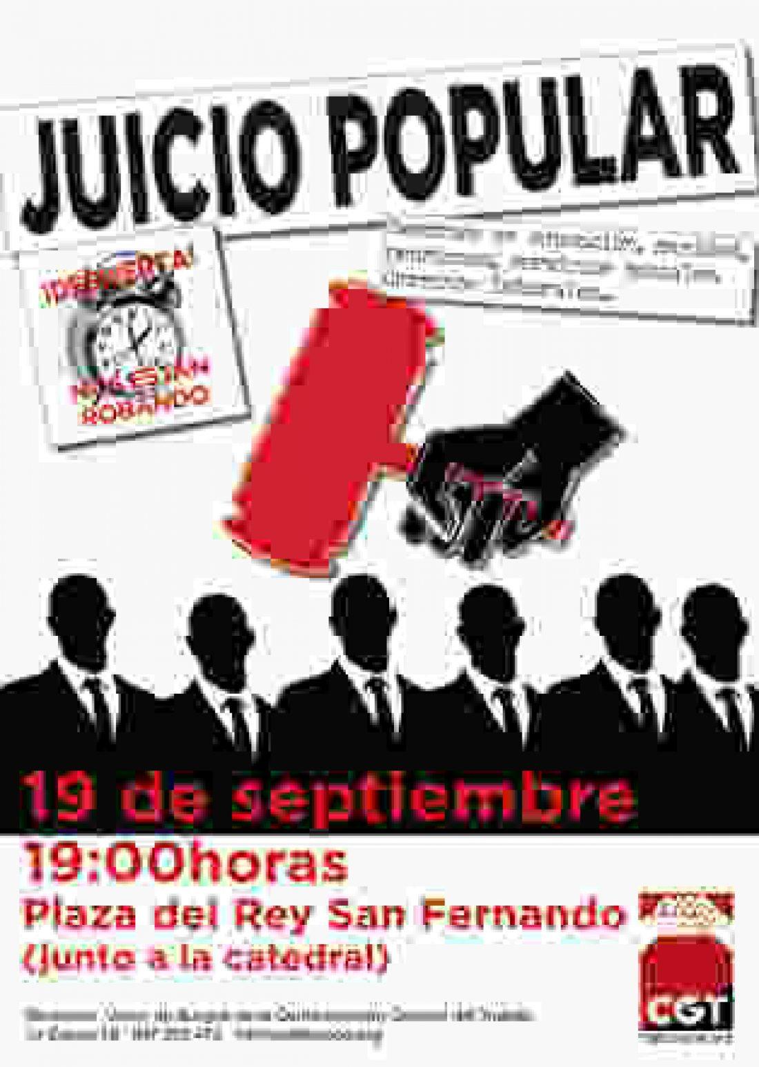 Burgos. Juicio popular contra los responsables del saqueo de nuestros derecho sociales