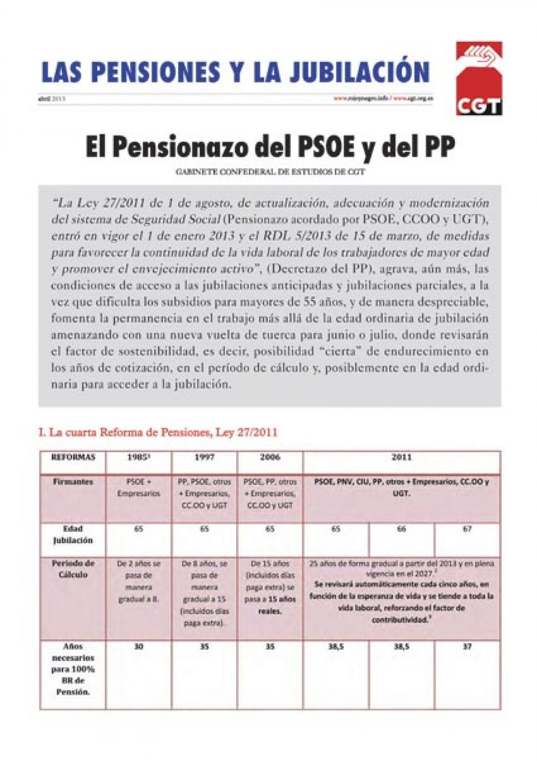 Separata «Las Pensiones y la Jubilación» – abril 2013