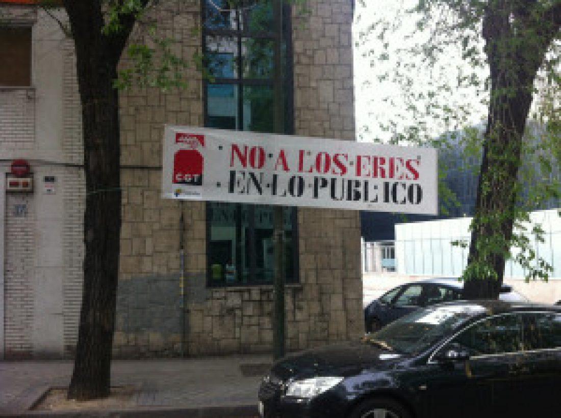 Crónica y fotos de la parada durante el descanso contra el Despido Colectivo en Tragsatec el 3 de septiembre de 2013