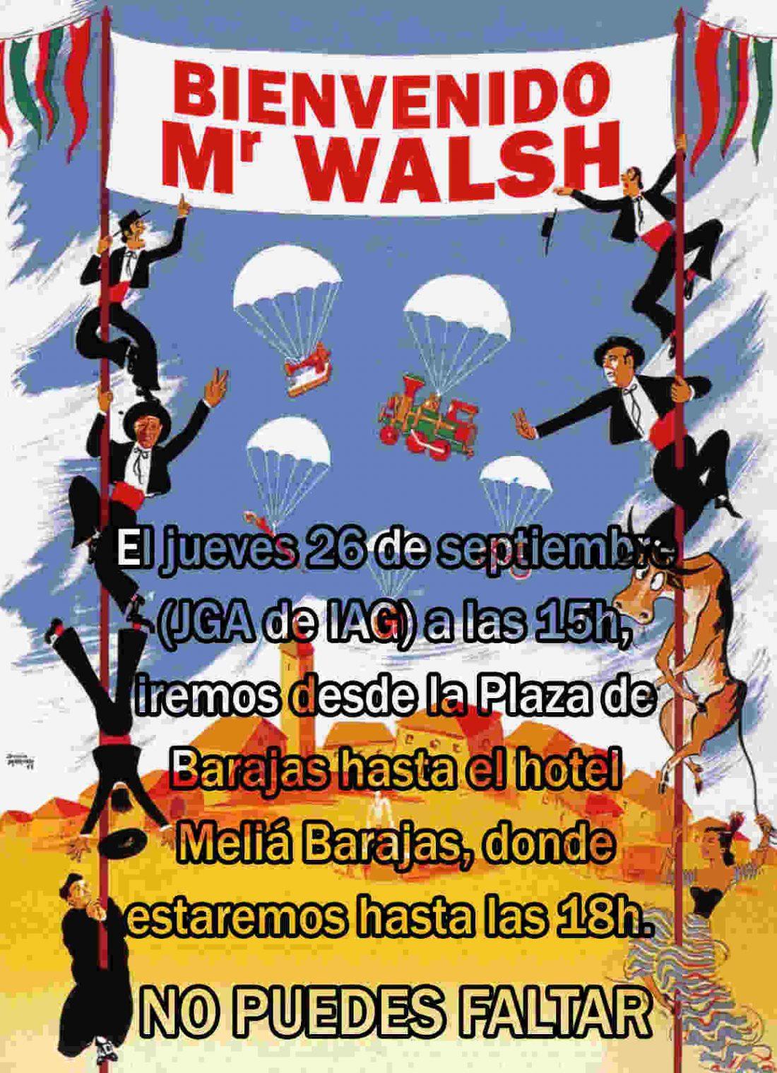 Manifestación por el futuro de Iberia el jueves 26 de septiembre de 15 a 16 horas desde la Plaza de Barajas