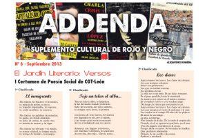 Addenda, suplemento cultural del RyN – Nº 6, septiembre 2013