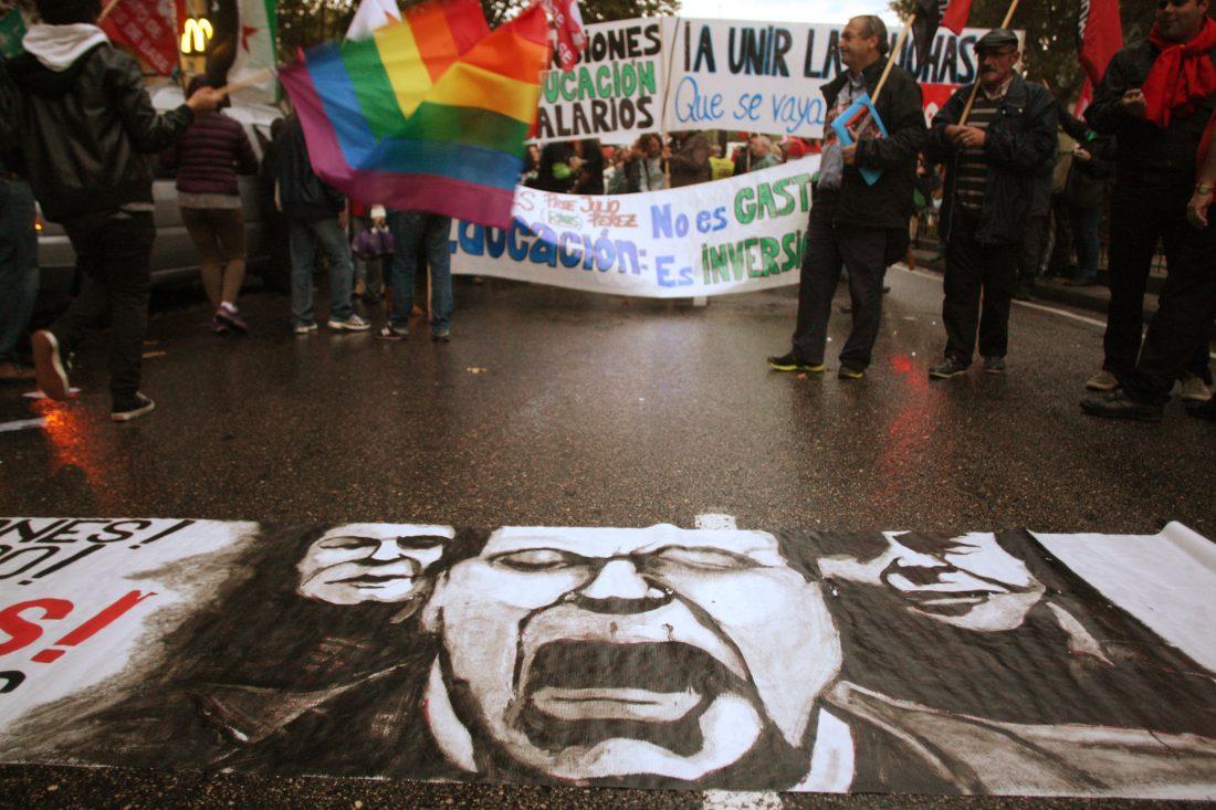 Manifestación  contra el recorte de las pensiones 24-10-2013