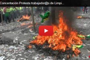 Concentación Protesta trabajador@s de Limpieza ante Ayto. Madrid 26O 2013