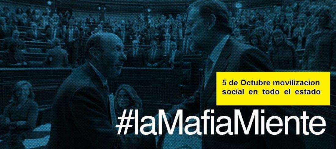 CGT considera muy oportuna la movilización del 5 de octubre: «Fuera mafia, hola democracia»