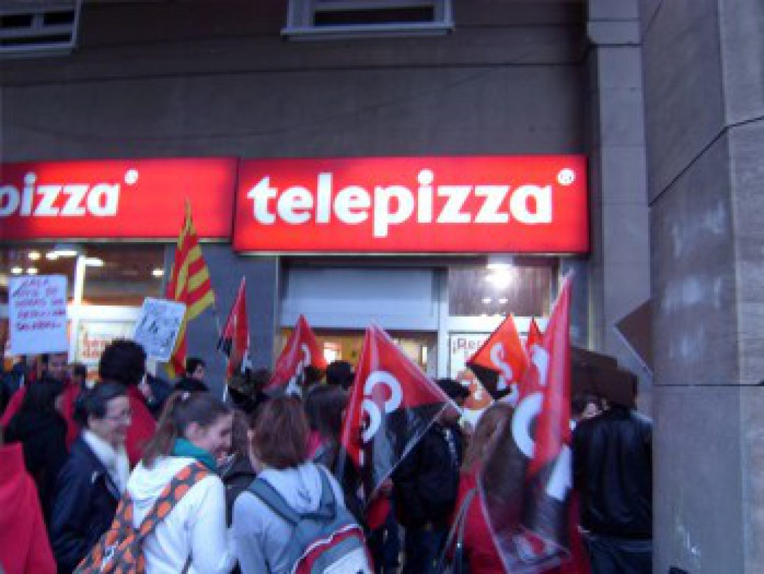 Telepizza empieza con los despidos. Concentración el 13-O en Zaragoza