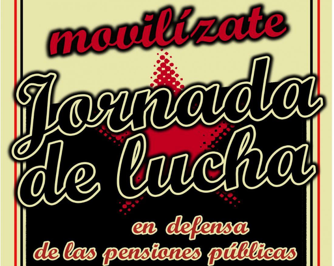 CGT, COBAS, Intersindical, Intersindical Aragón, SO y CSC convocan el 24-O Jornada contra la reforma de las pensiones