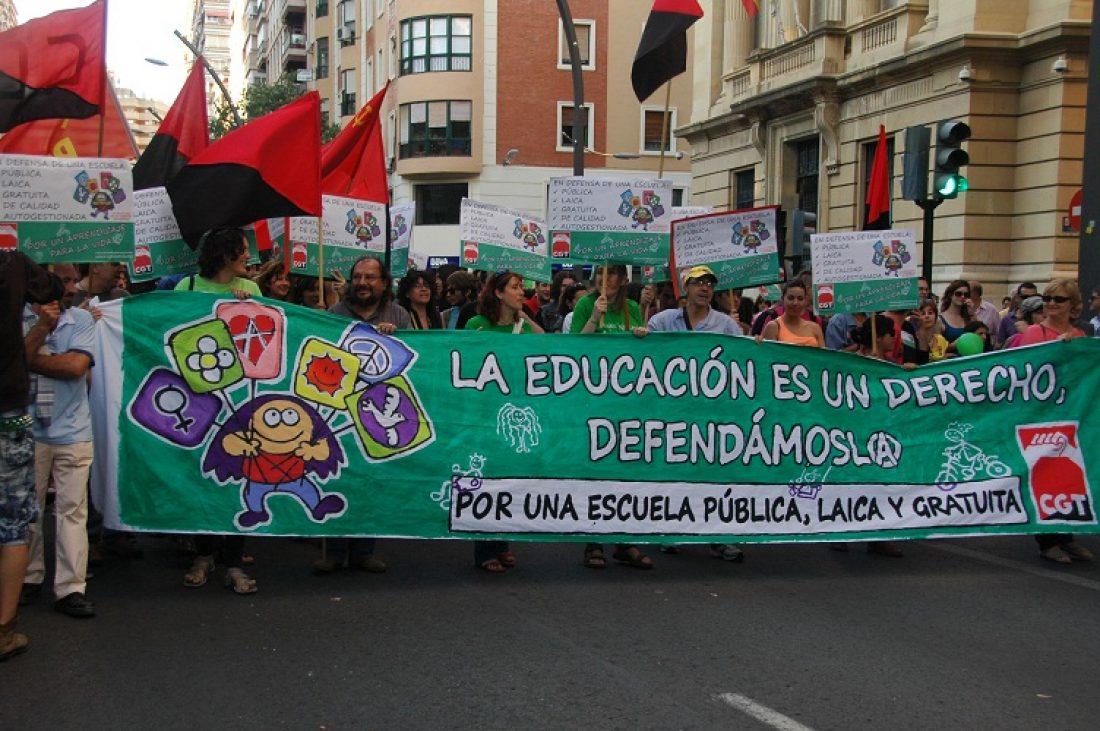 24 de octubre: huelga de la enseñanza contra la LOMCE y los recortes