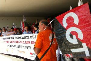 CGT- Andalucía cifra en torno al 65% el seguimiento en la huelga de Renfe