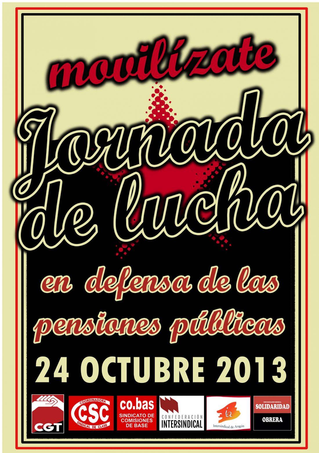 Sindicatos alternativos convocan manifestación el 24 de octubre en Madrid contra la reforma de las pensiones