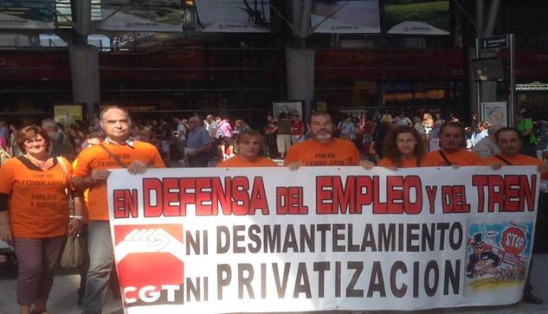 31 octubre huelga 24h sector ferroviario y manifestación en defensa de lo público en Málaga