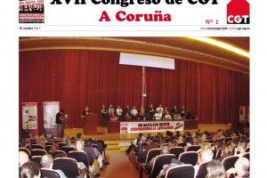 Diario del XVII Congreso Confederal nº 1 – 18-10-2013