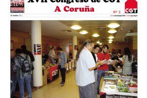 Diario del XVII Congreso Confederal nº 2 – 19-10-2013