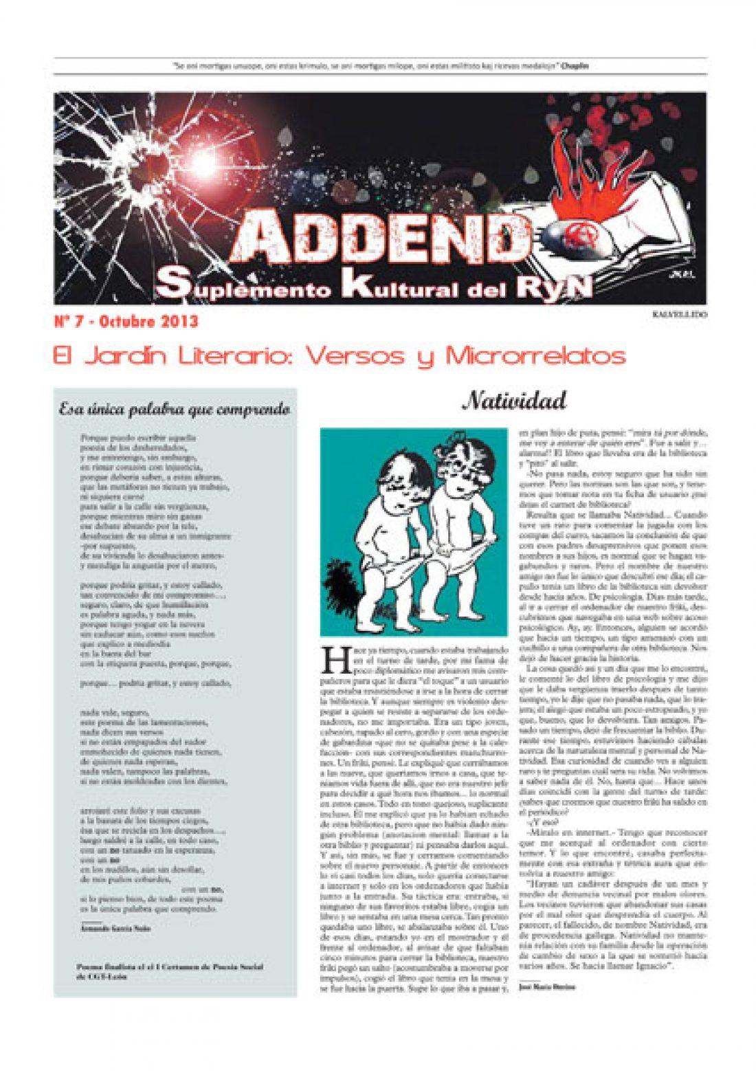 Addenda, suplemento cultural del RyN – Nº 7, octubre 2013